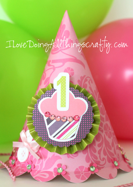 DIY Party Hat, Birthday Card and 3D Number Keepsake | Olivia's 1st Bday Party | SVGCuts