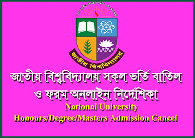 NU National University Honours and Degree Masters Admission Cancel Process & Form 2018