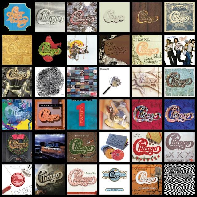 Los 36 álbumes de Chicago