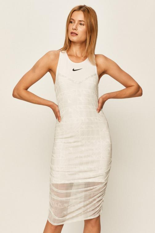 Nike Sportswear - Rochie scurta alba sport de vara