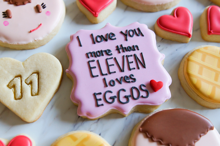 Love! Stranger Things Valentine Decorated Cookies   bakeat350.net