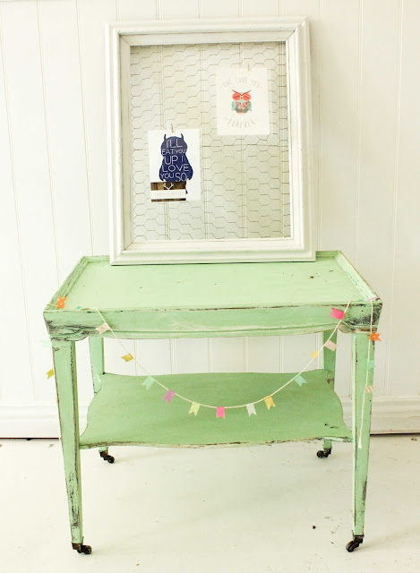 vintage mint table