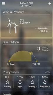 صور من تطبيق Yahoo Weather