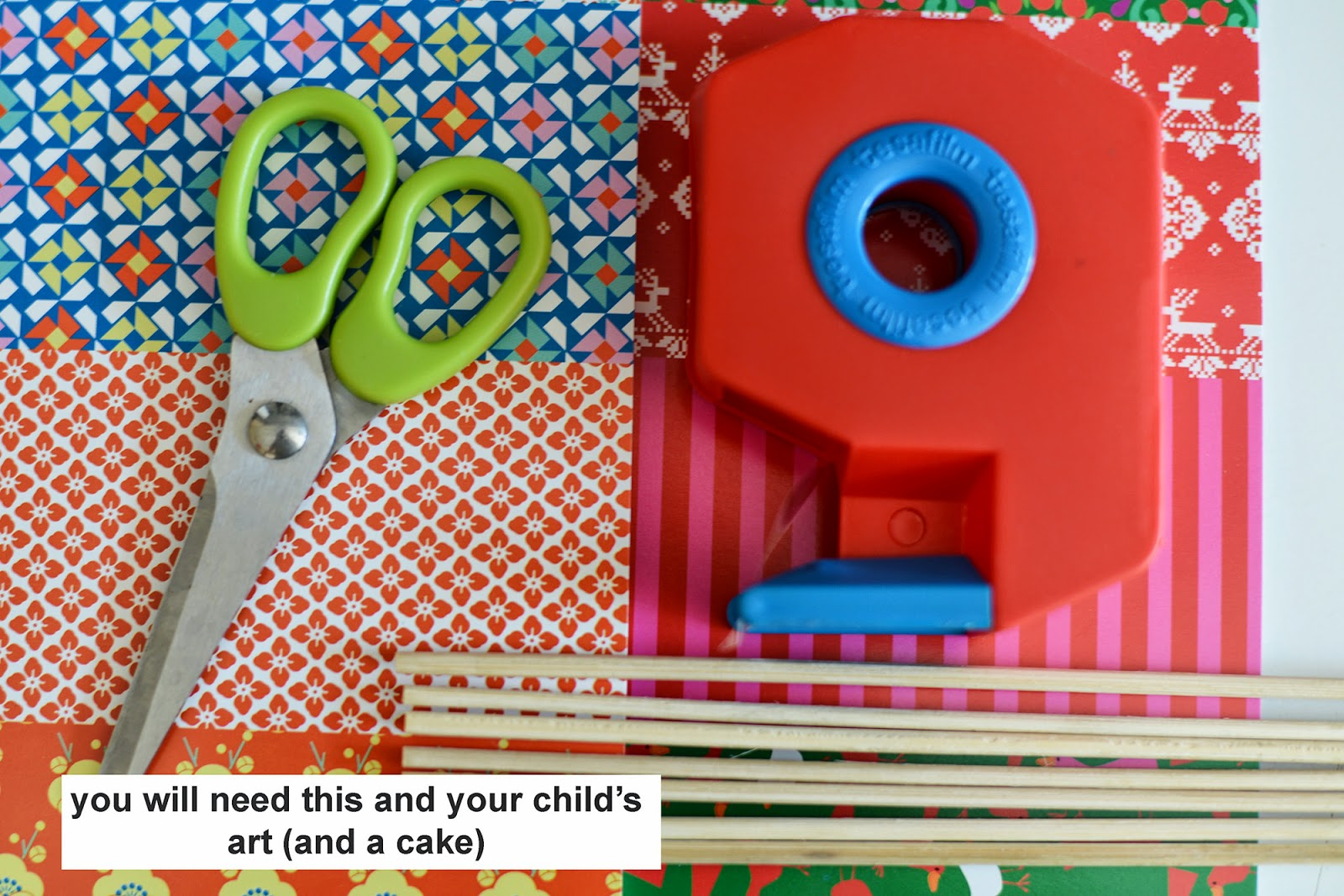 Hugo and Mathilda: Paper cake decoration - children s art