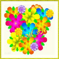 כרטיס ברכה שנה טובה פרחים אילוסטרציה