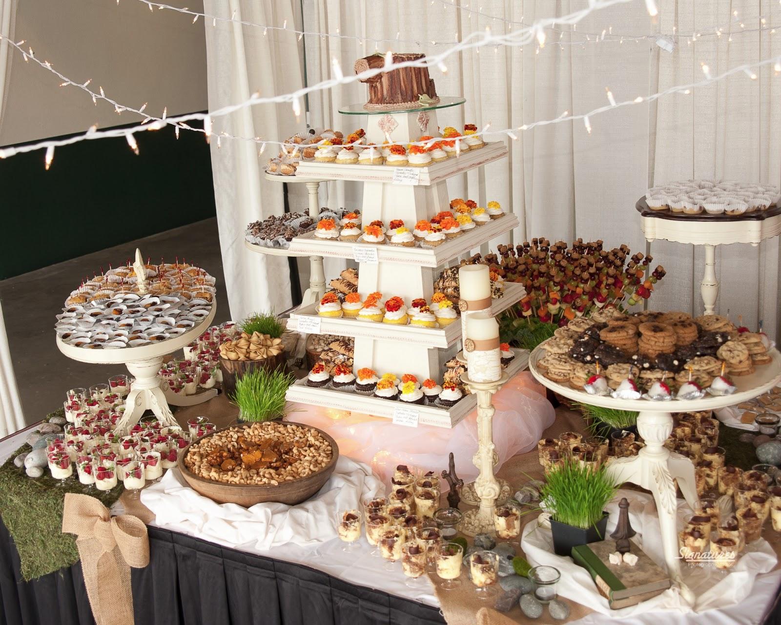 Rustic Wedding Dessert Buffet