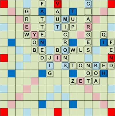 Never give up, never surrender, a Scrabble comeback