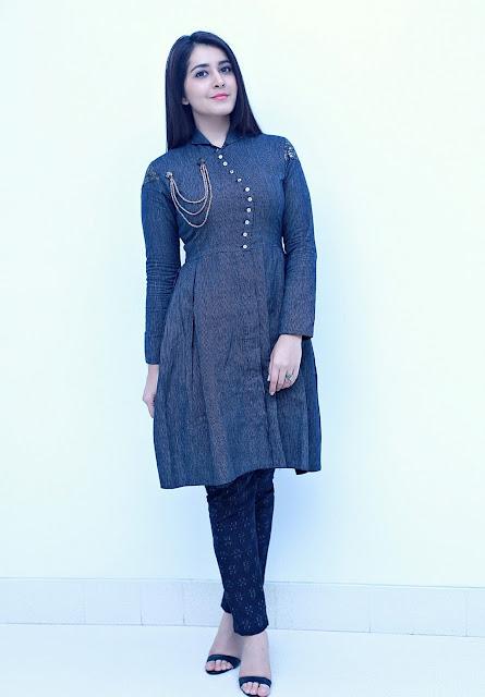 Raashi Khanna in Blueprint by Navya and Divya Niranjan Kurta