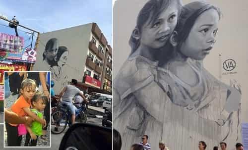 The Loving Sisters Mural in Johor AMAZING STORIES
