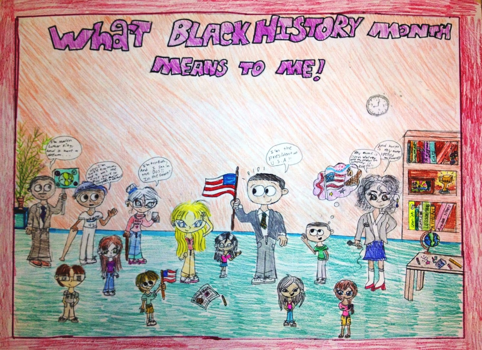 This Student Imagines Herself The Blonde Girl Meeting All Famous African Americans She Has Learned About In Social Studies Class