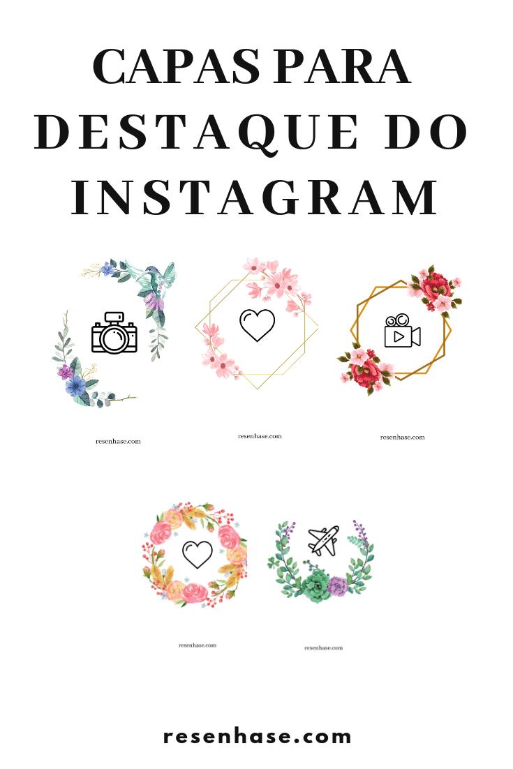 Capas para destaque do instagram