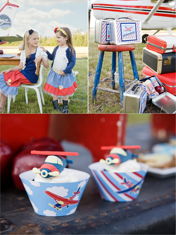 Little Aviator Airplane Inspired Birthday Party Ideas and Cake and Cupcakes
