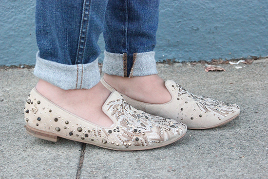 Studded Sam Edelman Smoking Slippers