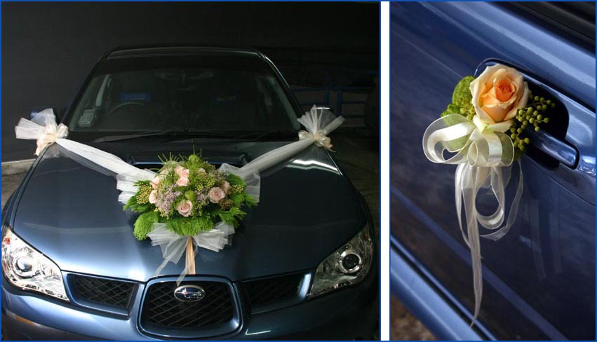 Wedding car decoration design wedding snaps for Automotive decoration