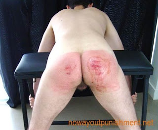 Jacob takes an extremely hard spanking for No Way Out Punishment gay spanking videos