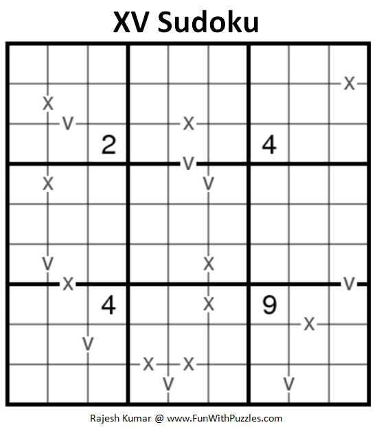 XV Sudoku Puzzle (Fun With Sudoku #239)