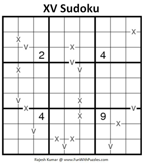 XV Sudoku Puzzle (Fun With Sudoku #239)