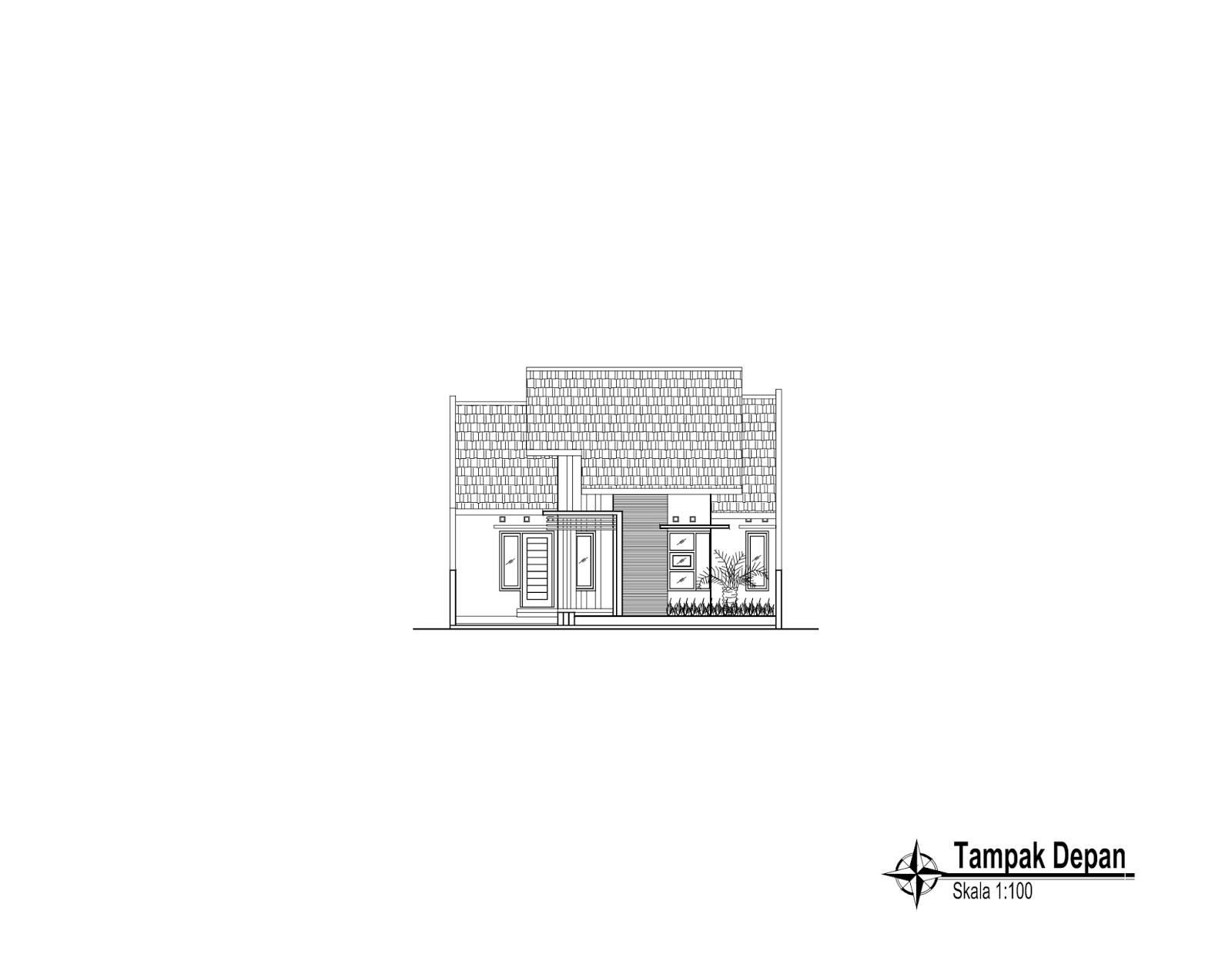 Contoh Gambar Kerja Lengkap Rumah Minimalis 1 Lantai Griya Bagus