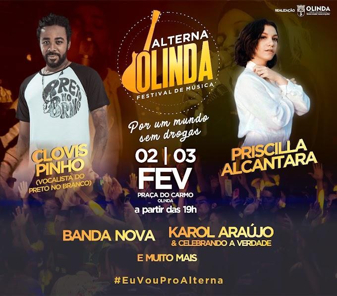 Festival Alterna Olinda de música gospel anima Praça do Carmo