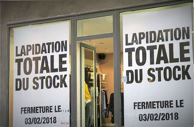 texte : Lapidation totale du stock