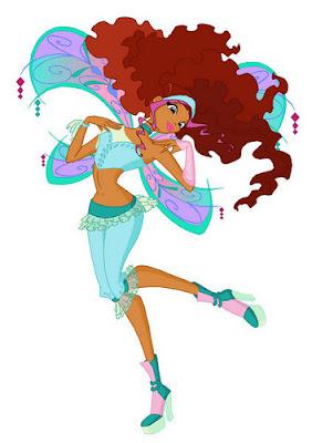 Hình ảnh hoạt hình dễ thương của tiên nữ Winx Layla