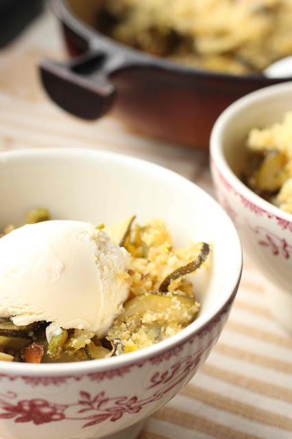 crumble de courgette en dessert