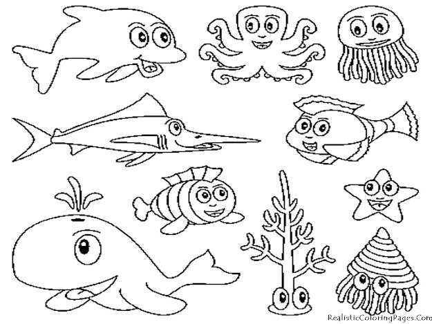 Underwater Animal Coloring Pages   Ideas For Childs Sea Quilt Or Wall  Hanging