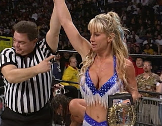 WCW Starrcade 1999 - Madusa beat Evan Karagious for the Cruiserweight title