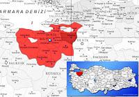 Bursa Yenişehir ilçesinin nerede olduğunu gösteren harita
