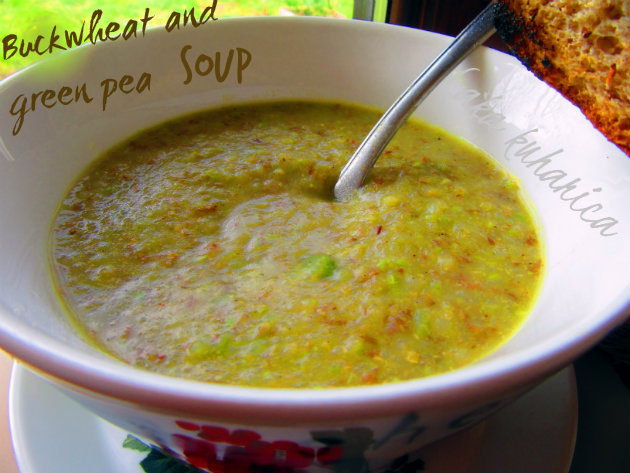 Buckwheat and green pea soup by Laka kuharica: thick soup, packed with hearty goodness.