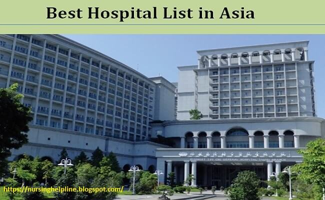 Top hospital list in Asia