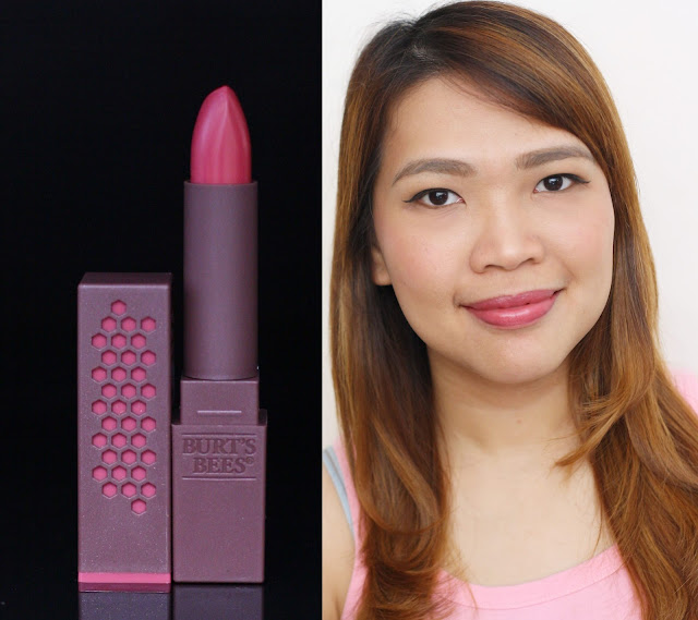 a photo of Burt's Bees 100% Natural Lipstick in Lily Lake