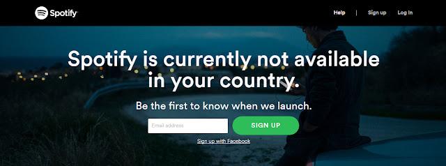 تشغيل Spotify المحظور فى البلدان العربية