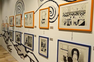 Naruto-exposição-Japão-originais