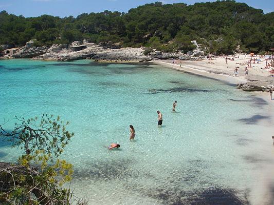 praia turqueta menorca