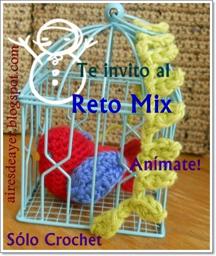 reto mix en crochet