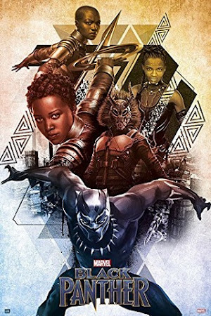 Poster Of Black Panther 2018 Full Movie In Hindi Dubbed Download HD 100MB English Movie For Mobiles 3gp Mp4 HEVC Watch Online
