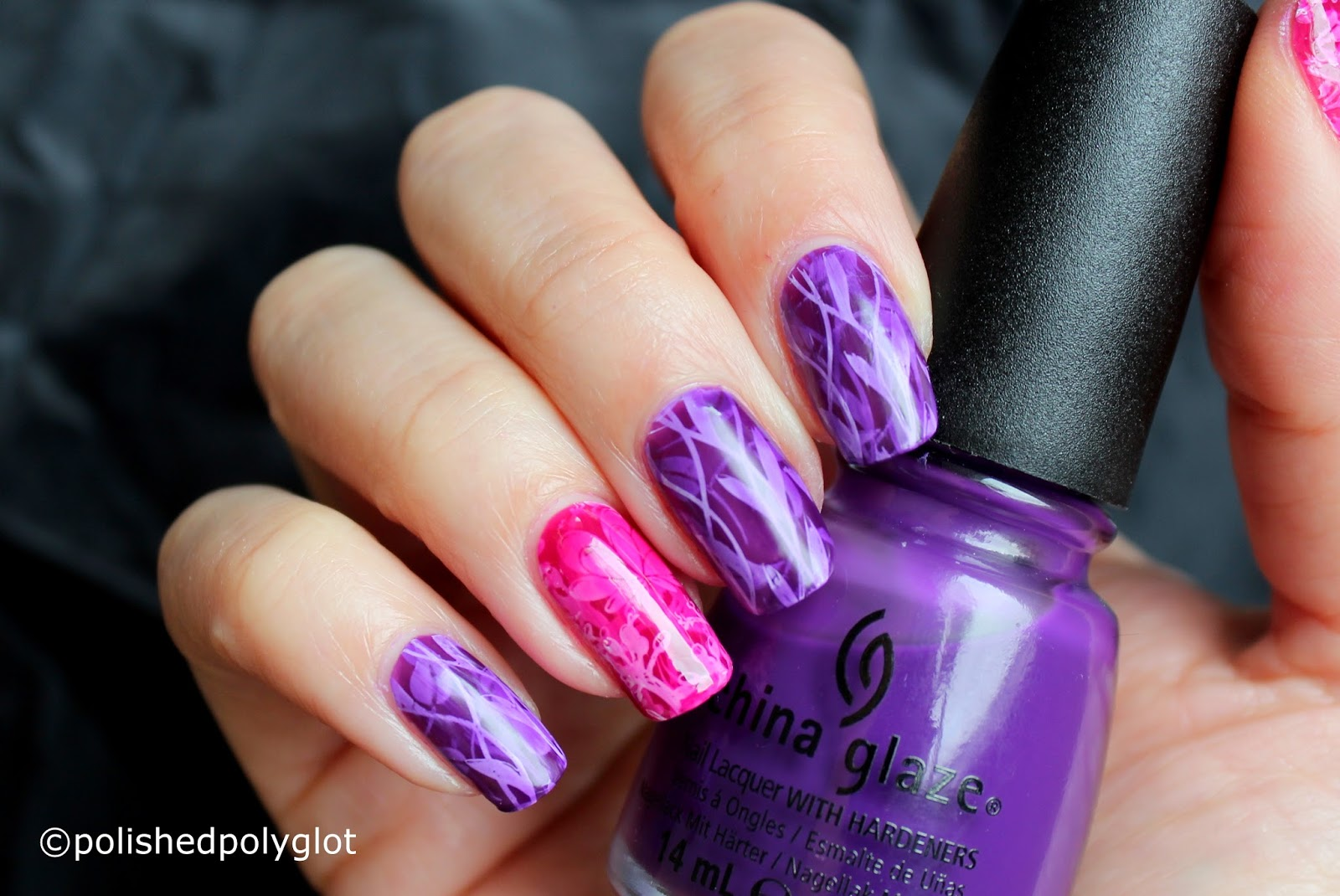 Nail Art │ \'Pond\' Manicure in purple and pink [26GNAI] / Polished ...