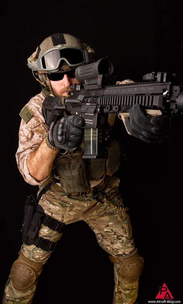 big shot of the month, pyramyd air, elite force HK417, airsoft AEG, elite force airsoft BBs, voodoo tactical gloves, air frame, multicam, aor1, desert marpat, tom harris media, tominator,