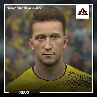 PES 2017 Faces Marco Reus by Ben Hossam FaceMaker