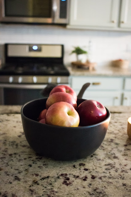 apples in a bowl as simple fall decor