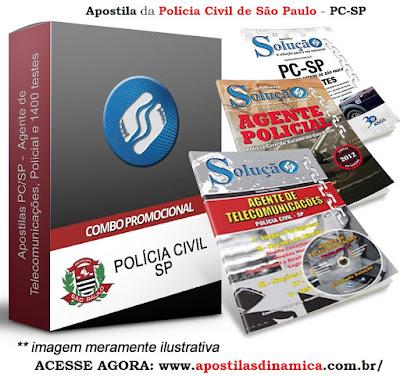 Apostila concurso da Polícia Civil de São Paulo - PC-SP.