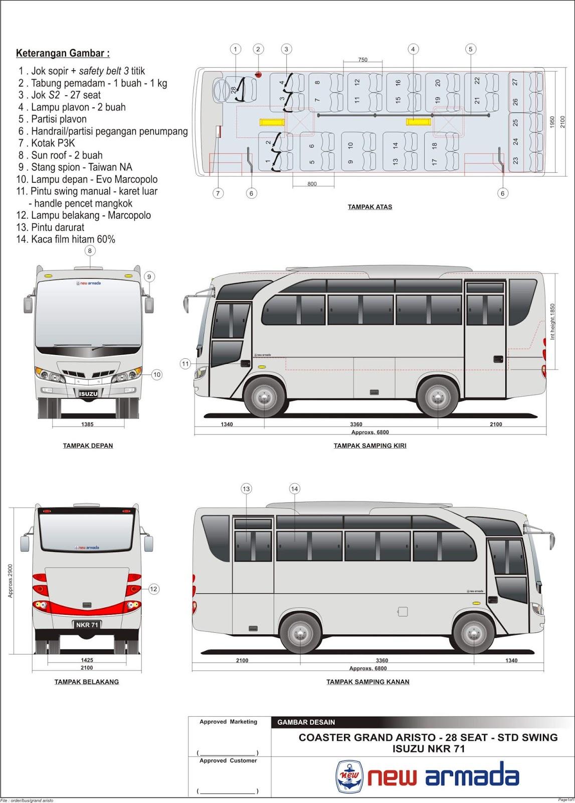 Bus Pariwisata Medium Bus - Informasi Bus Pariwisata di ...