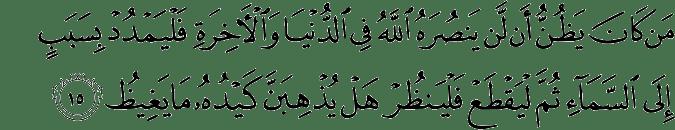 Surat Al Hajj ayat 15