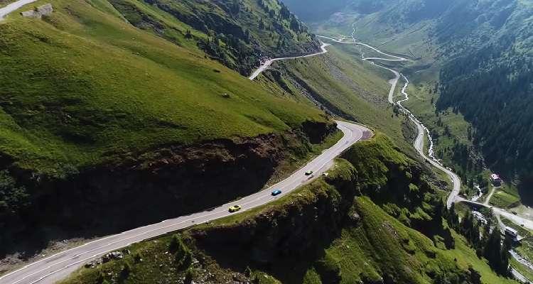 Reclama Lamborghini Huracan pe traseul pe Transfăgărăşan.