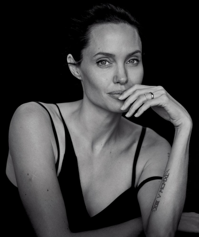 angelina jolie starred in a sensual black and white photoshoot
