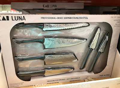 Make chopping and food prep easier with the Kai Luna Hammered 6-piece Knife Set