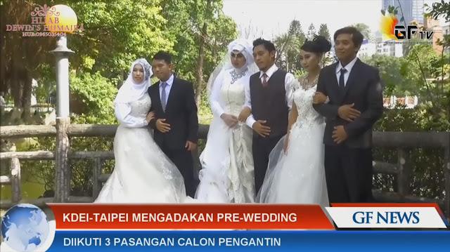 Calon Mempelai Nikah Massal Taiwan Melaksanakan Photo Pre Wedding Menyambut Pernikahan 30 Oktober Nanti, Berikut Videonya