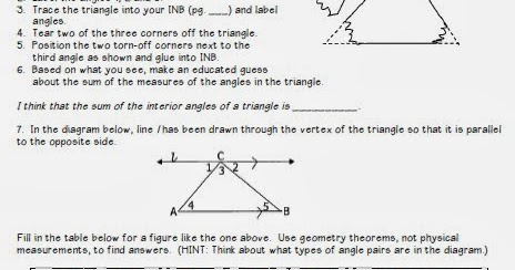 Math by tori triangles unit interior angle sum and - Measure of exterior angles of a triangle ...