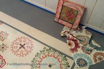 Painted floors with stencil medallions and the inspiration pieces